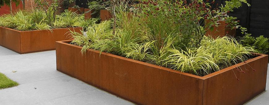 Donice ogrodowe z cortenu - duże ozdobne