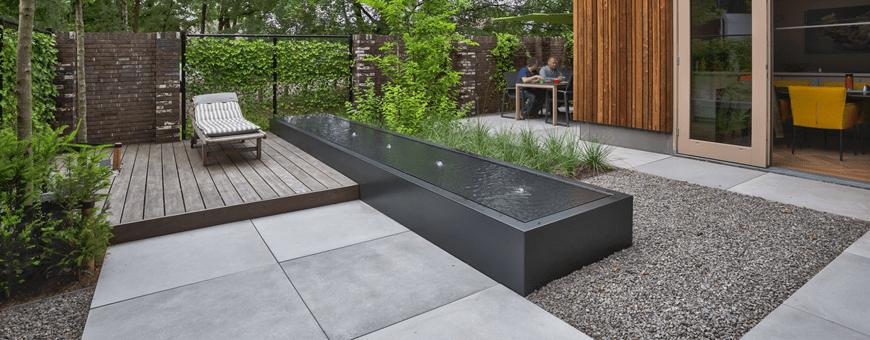 Fontanny ogrodowe nowoczesne podświetlane