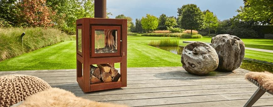 Kominek ogrodowy - grill duży, palenisko