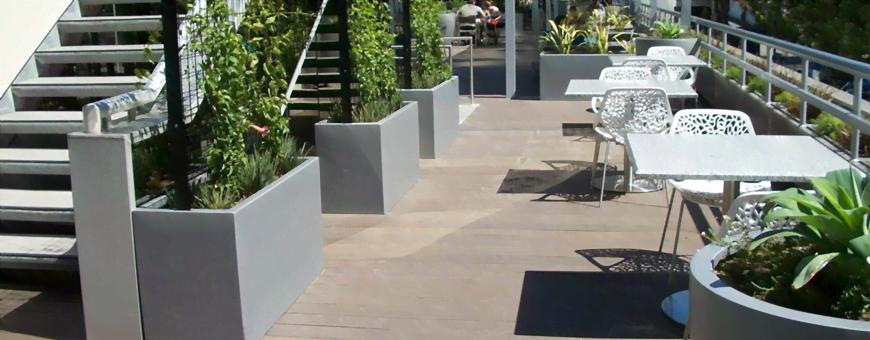 Klasyczne donice prostokątne z na taras i balkon