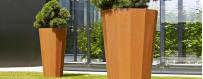 Donice - mała architektura ogrodowa z cortenu