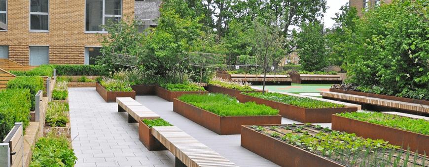 Donice ogrodowe miejskie duże na skwery