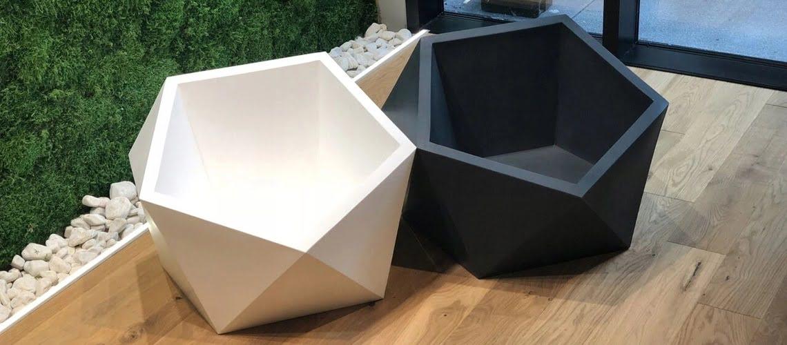 nowoczesna i modna donica geometryczna Vesari