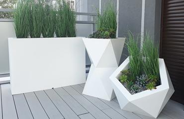 Donica z laminatu Cubi 100-38-38 Biały-alpejski
